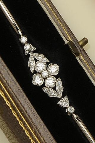 An early 20th century diamond bracelet