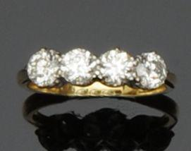 A four stone diamond ring