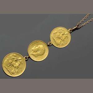 A collection of coin jewellery (8)