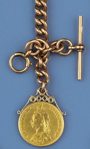 A heavy uniform curb-link Albert chain