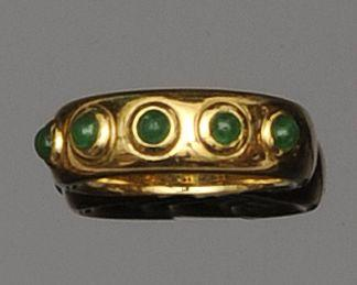 An emerald band ring