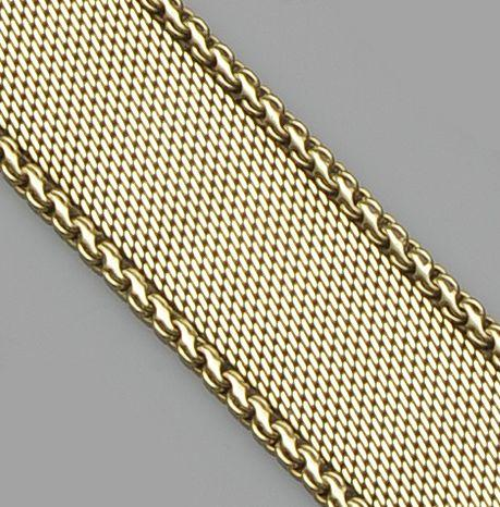 A 14ct gold fancy-link bracelet