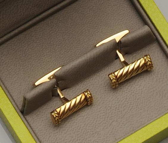 Fred, Paris: A pair of cufflinks