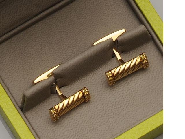 Fred, Paris: A pair of cufflinks