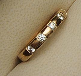 Boodles: A diamond set 18ct gold band ring