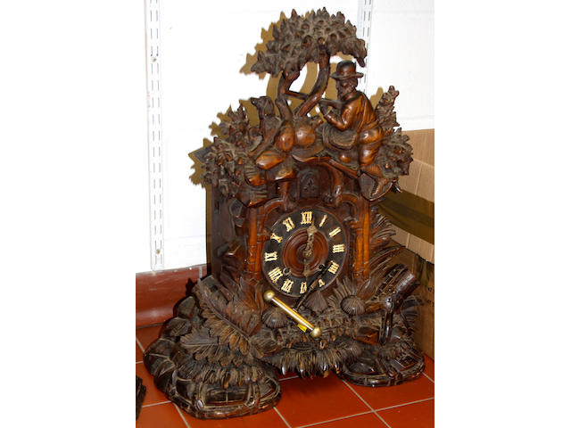 A large Black Forest cuckoo clock