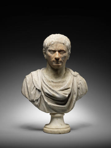 A Roman marble portrait bust of a man
