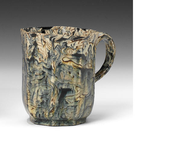 A Staffordshire solid agate coffee cup, circa 1750