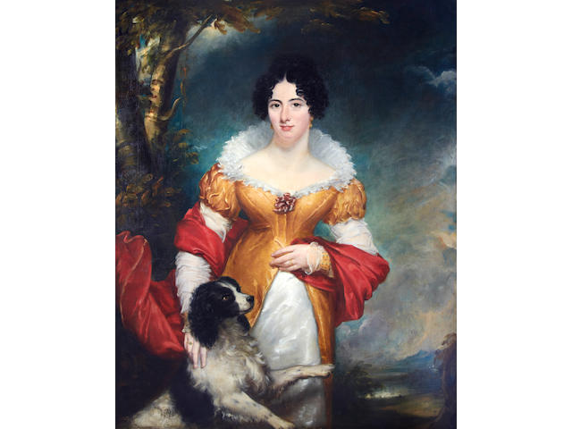 Martin Cregan (British, 1788-1870) A portrait of Lady Catherine Staples (nee Hawkins) wife of Sir Thomas Staples, 9th Baronet of County Tyrone