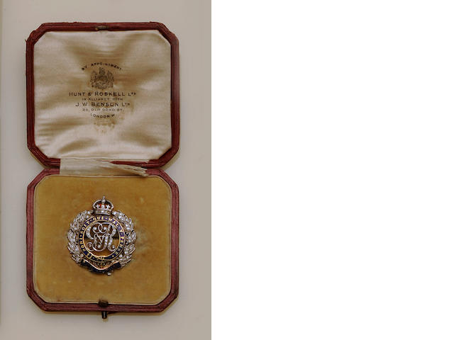 A diamond and enamel Regimental brooch