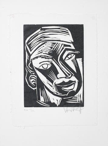 Karl Schmidt-Rottluff (German, 1884-1976) Karl Schmidt-Rottluff's Graphisches Werk bis 1923 Portfolio containing eight woodcuts, five on Van Gelder Zonen paper and three on japan, and three etchings, on wove, each signed and numbered XIV/XXX in pencil, plus title page, 335 x 253mm(Folio), together with the companion book by Rosa Schapire, containing eight woodcuts and one etching, each signed in pencil, number 14 from an edition of 400, published by Euphorion, Berlin, 300 x 225mm(Vol) 2
