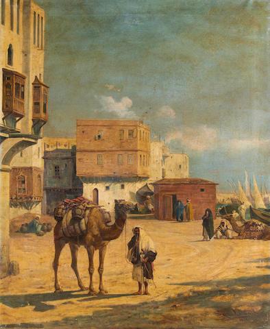 C. Mancini (19th Century) North African street scene