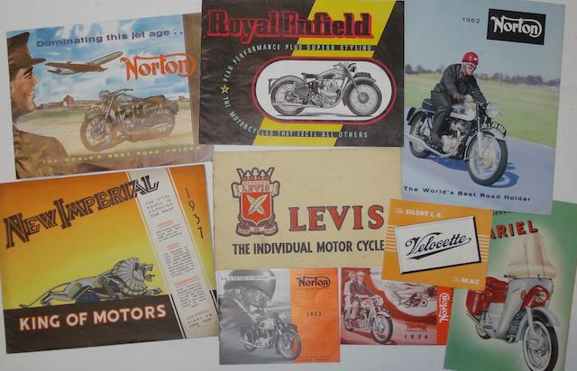Assorted pre and post-War sales brochures,