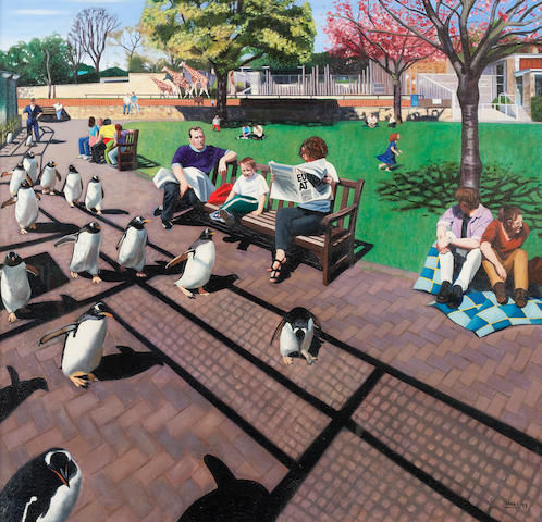 Lesley Banks (born 1962) Parade 100 x 105 cm. (39 3/8 x 41 5/16 in.)