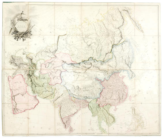 CHINA BRETSCHNEIDER (E.) Map of China Prepared for the China Inland Mission, 1905; and another, Arrowsmith's Asia, 1801 (2)