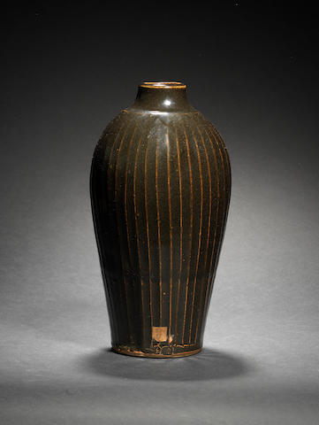 Bernard Leach (British, 1887-1979) Stoneware vase, circa 1950 31.6 cm. (12 1/2 in.) high