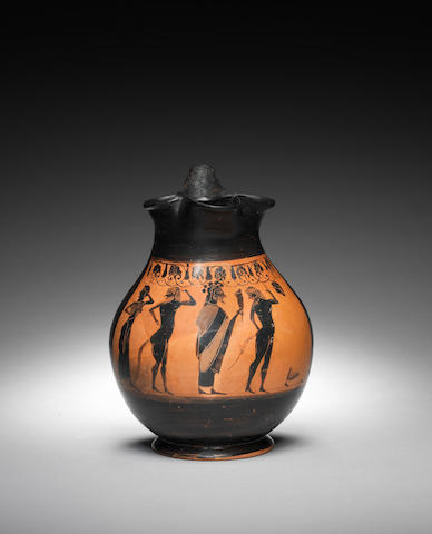 An Attic black-figure oinochoe
