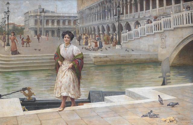 Antonio Ermolao Paoletti (Italian, 1834-1912) A Venetian beauty
