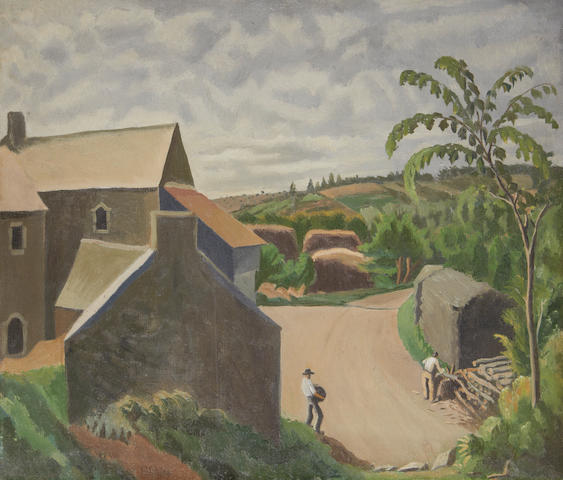 Rudolph Ihlee (British, 1883-1968) Breton farm