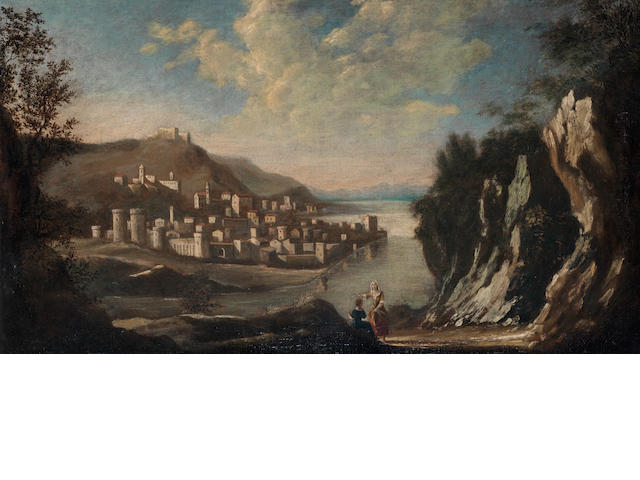 Follower of Antonio Marini (active Veneto late 17th and early 18th Centuries ) A rocky coastal inlet