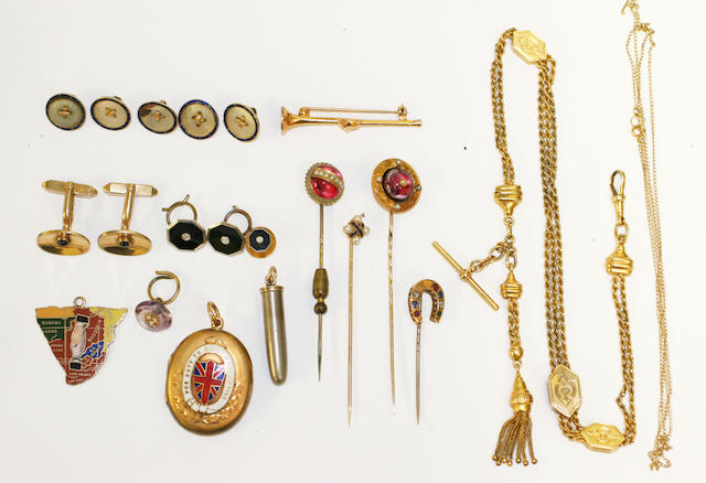A collection of gentlemans jewellery,