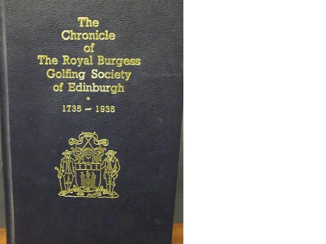 Cameron, Robbie J.: The Chronicle of the Royal Burgess Golfing Society of Edinburgh, 1735-1935
