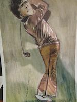21A set of Tim Holder cartoons and Certificate pf Authencity No 11  Nicklaus and Watson