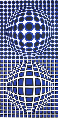 Vasarely, Oltar-BMB, 1972, cm 163x82