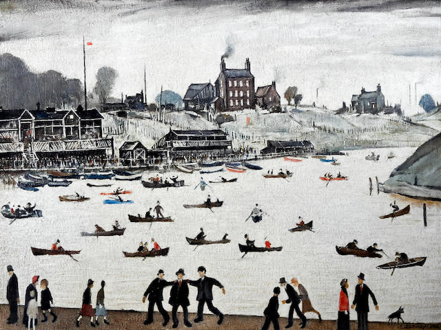 Laurence Stephen Lowry R.A. (British, 1887-1976) 'Crime Lake'