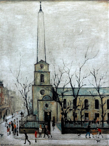 Laurence Stephen Lowry R.A. (British, 1887-1976) 'St Lukes, London'
