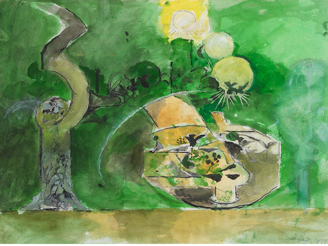 Graham Sutherland O.M. (British, 1903-1980) Tree Root & Sun 35.7 x 47 cm. (14 x 18 1/2 in.)