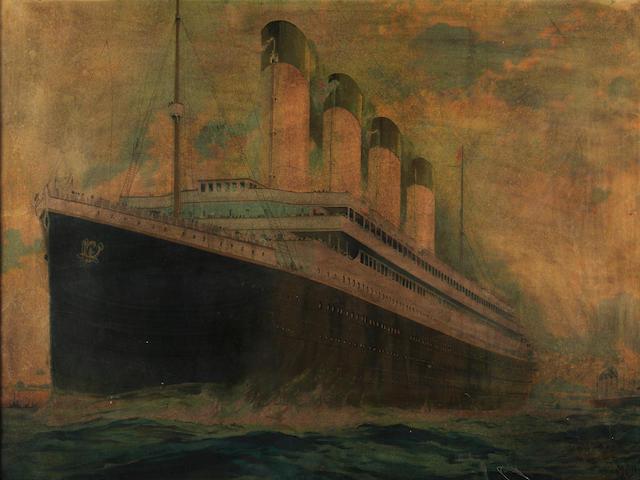A large RMS <i>Titanic</i> poster.