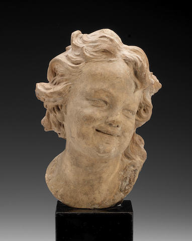 terracotta head Roubilliac