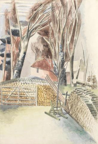 Paul Nash (British, 1889-1946) Winter landscape 66.5 x 46.5 cm. (26 1/4 x 18 1/4 in.)