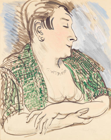 Raoul Dufy (French, 1877-1953) Portrait de Madame Dufy