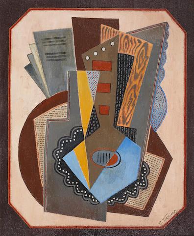 Georges Terzian (French, born 1939) La mandoline