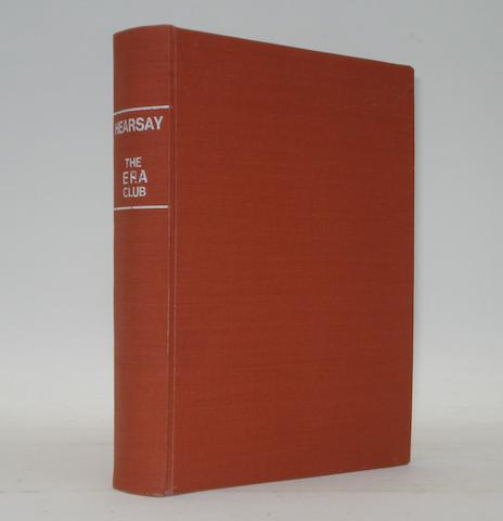 A rare complete bound run of pre-War ERA Club 'Hearsay' Bulletins,