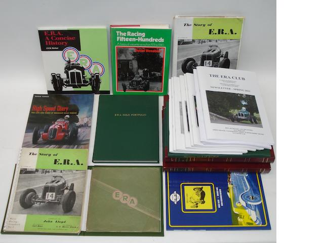 Books and literature relating to ERA cars,