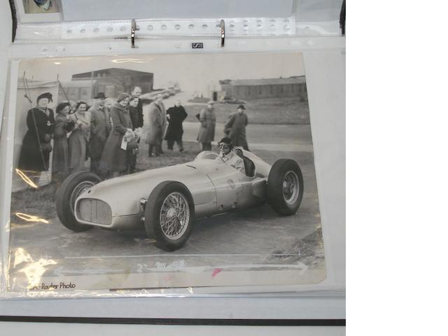 A file of photographs and ephemera relating to post-War Grand Prix BRM racing,