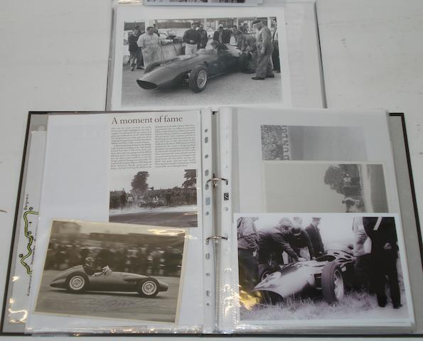 Two files of photographs and ephemera relating to Tony Brooks,