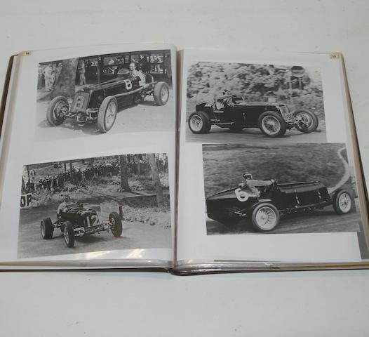 An album of photographs relating to mainly pre-War ERA racing,