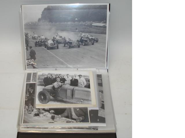 A file of photographs and other material relating to pre-War ERA cars,