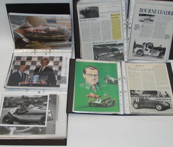 Four files of photographs and ephemera relating to post-War ERA racing,