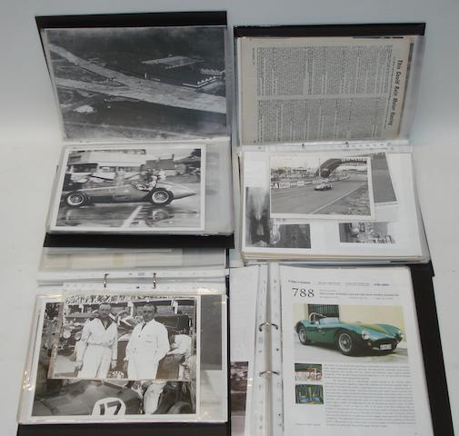 A quantity of photographs relating to mainly 1950s Grand Prix racing,