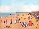 Helen Bradley (British, 1900-1979) 'Blackpool Sands'