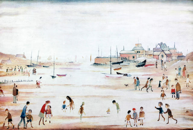 Laurence Stephen Lowry R.A. (British, 1887-1976) 'On the Sands'