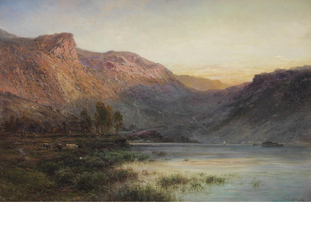 Alfred de Bréanski Snr. (British, 1852-1928) Glen Sheil, N.B.; The Eagle Rock (Loch Lomond)