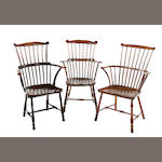 A group of six ash and elm Windsor armchairs, West Country First-quarter 19th century