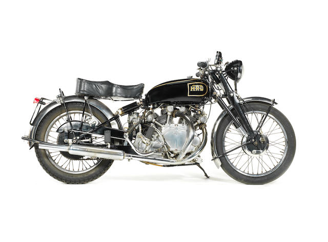 Property of The Dowager Duchess of Hamilton 1949 Vincent-HRD 998cc Rapide Series B Frame no. R3417 Engine no. F10AB/1/1427 (see text)