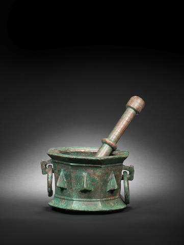A Seljuk bronze Pestle and Mortar